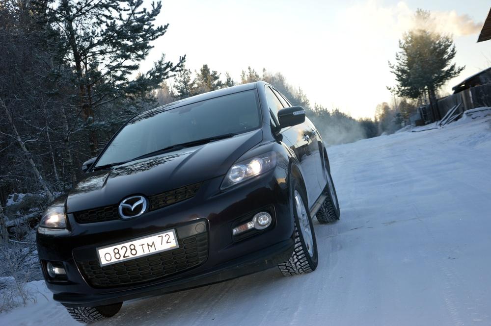 Подержанный Mazda CX-7, хорошее состояние, бордовый , 2007 года выпуска, цена 599 000 руб. в ао. Ханты-Мансийском Автономном округе - Югре