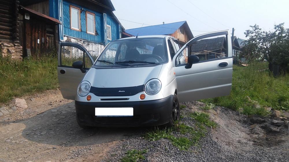 Подержанный Daewoo Matiz, хорошее состояние, серебряный металлик, 2008 года выпуска, цена 95 000 руб. в Челябинской области