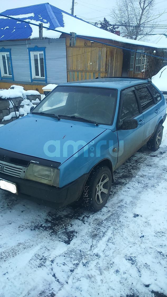 Подержанный ВАЗ (Lada) 2109, хорошее состояние, голубой , 2001 года выпуска, цена 40 000 руб. в Челябинской области