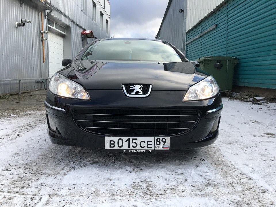 Подержанный Peugeot 407, хорошее состояние, черный , 2008 года выпуска, цена 370 000 руб. в ао. Ханты-Мансийском Автономном округе - Югре