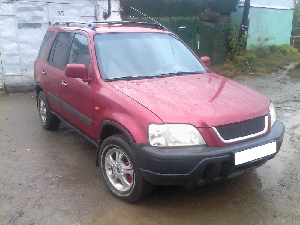 Подержанный Honda CR-V, отличное состояние, бордовый перламутр, 1998 года выпуска, цена 180 000 руб. в Челябинской области