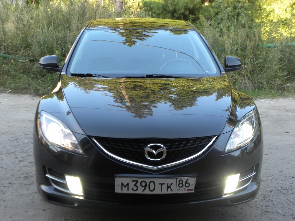 Подержанный Mazda 6, хорошее состояние, черный бриллиант, 2008 года выпуска, цена 550 000 руб. в ао. Ханты-Мансийском Автономном округе - Югре