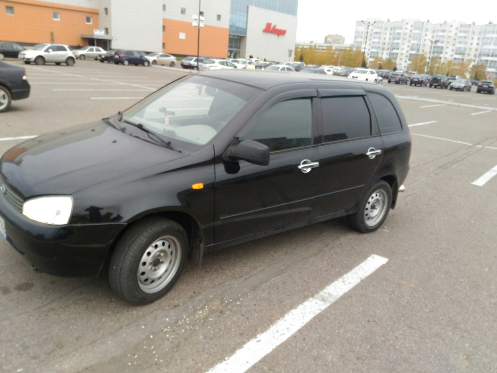Подержанный ВАЗ (Lada) Kalina, отличное состояние, черный металлик, 2011 года выпуска, цена 210 000 руб. в республике Татарстане
