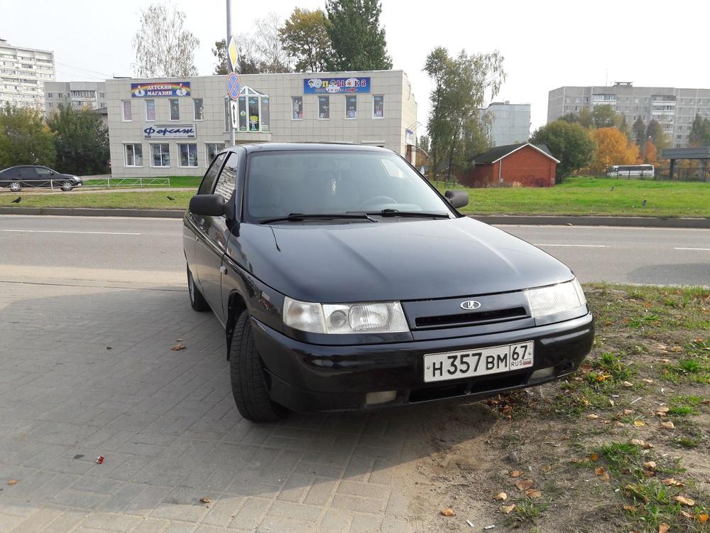 Подержанный ВАЗ (Lada) 2110, хорошее состояние, черный металлик, 2003 года выпуска, цена 105 000 руб. в Смоленской области
