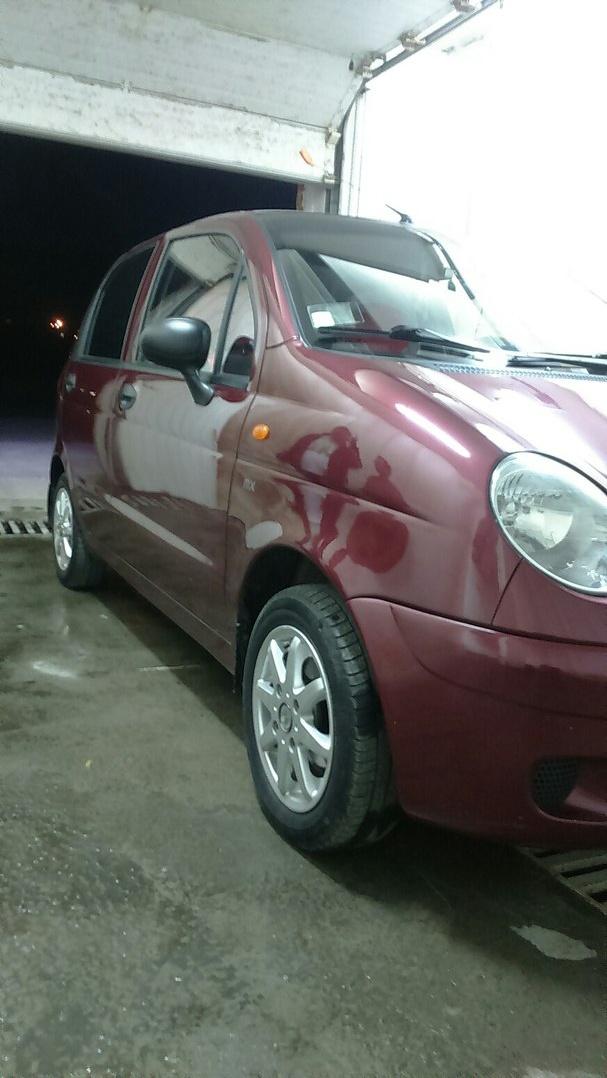 Подержанный Daewoo Matiz, отличное состояние, вишневый металлик, 2007 года выпуска, цена 95 000 руб. в Челябинской области