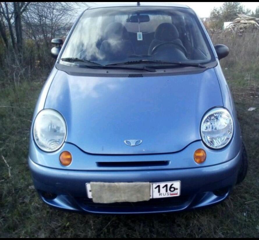 Подержанный Daewoo Matiz, хорошее состояние, голубой металлик, 2006 года выпуска, цена 145 000 руб. в республике Татарстане