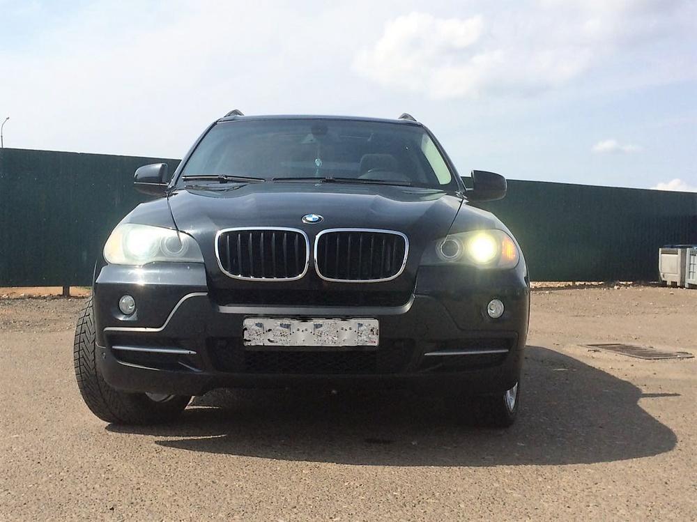 Подержанный BMW X5, хорошее состояние, черный , 2008 года выпуска, цена 1 050 000 руб. в республике Татарстане