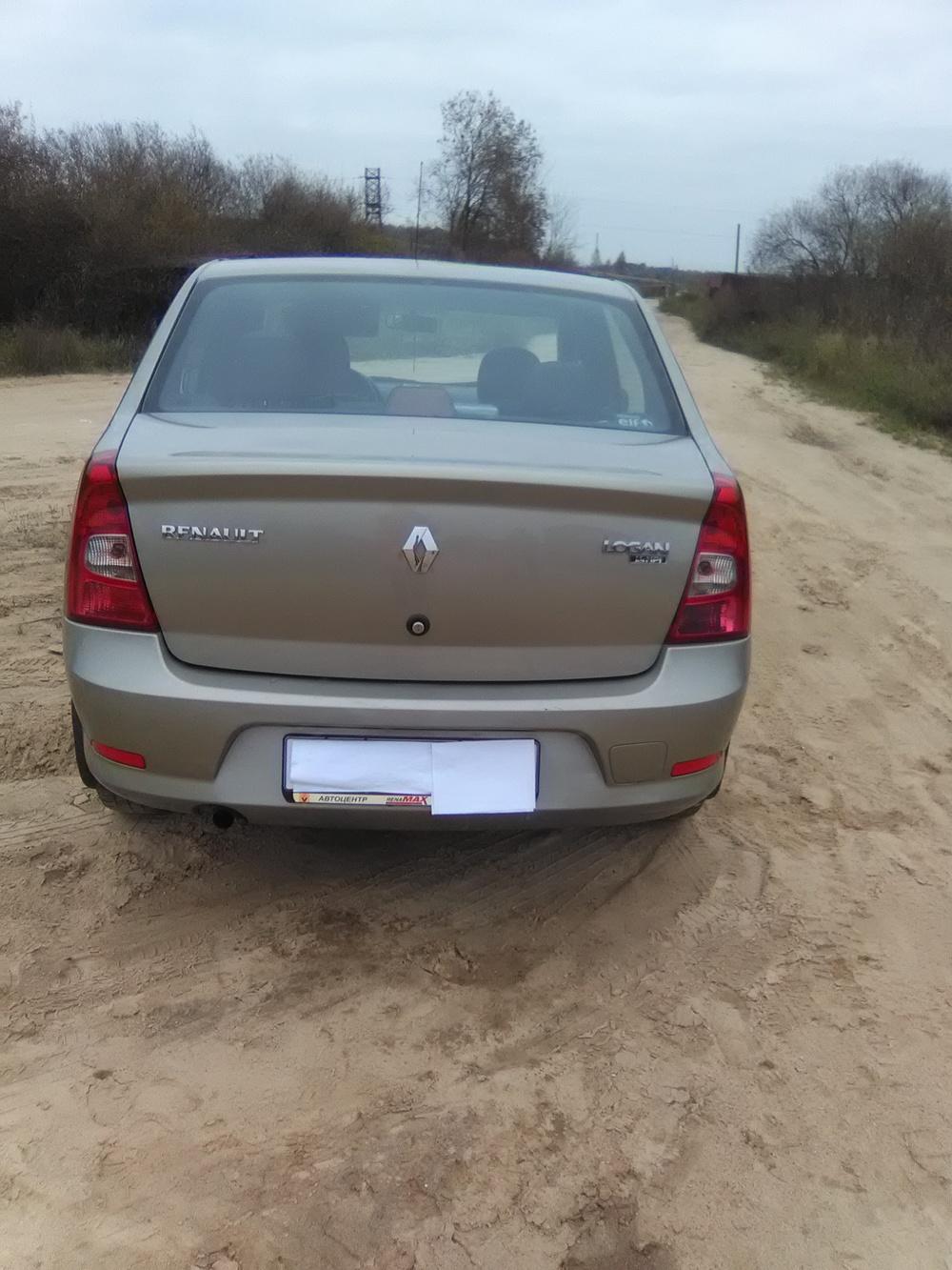 Подержанный Renault Logan, отличное состояние, бежевый , 2011 года выпуска, цена 300 000 руб. в Смоленской области