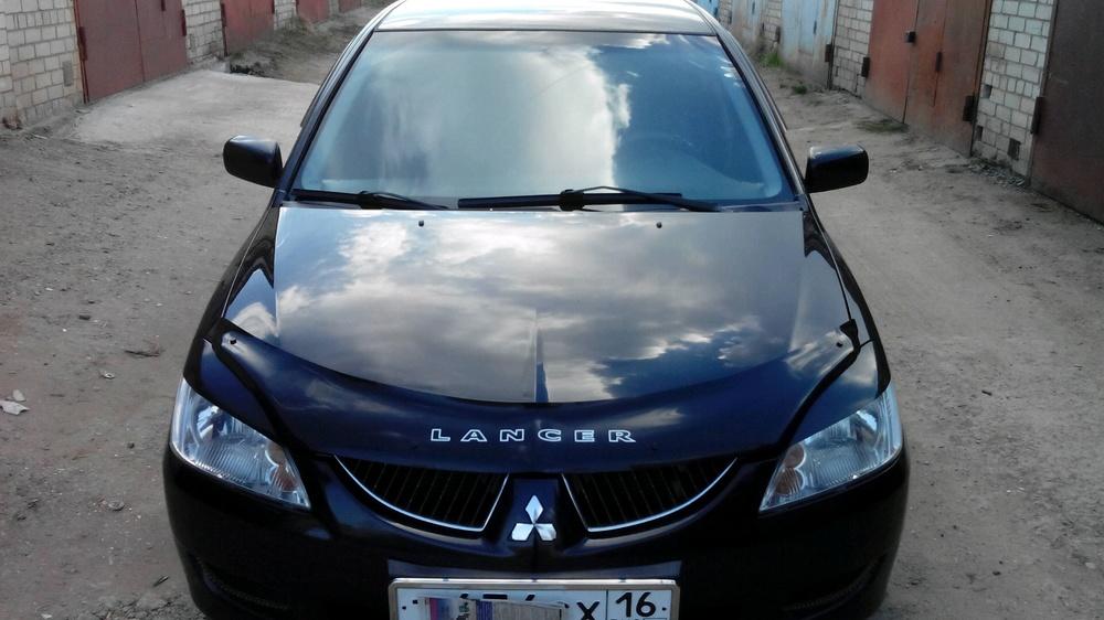 Подержанный Mitsubishi Lancer, хорошее состояние, черный , 2004 года выпуска, цена 260 000 руб. в республике Татарстане