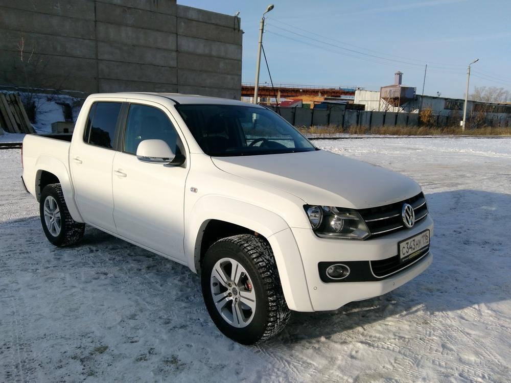 Подержанный Volkswagen Amarok, отличное состояние, белый , 2012 года выпуска, цена 1 400 000 руб. в республике Татарстане
