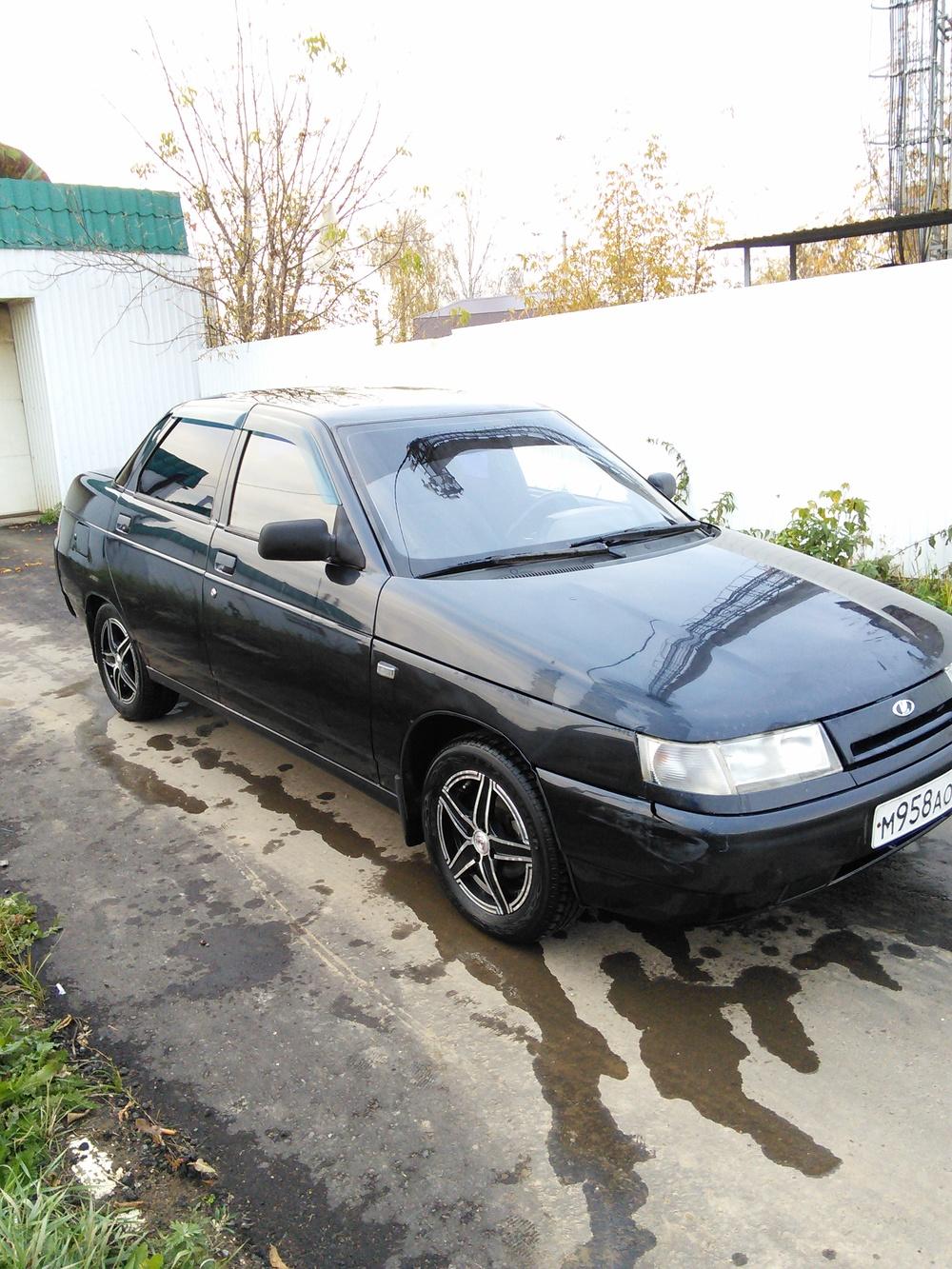 Подержанный ВАЗ (Lada) 2110, среднее состояние, черный , 2002 года выпуска, цена 65 000 руб. в республике Татарстане