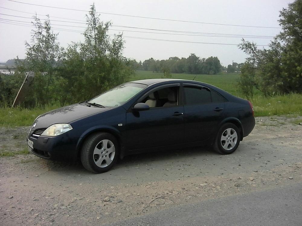 Подержанный Nissan Primera, хорошее состояние, синий перламутр, 2005 года выпуска, цена 270 000 руб. в ао. Ханты-Мансийском Автономном округе - Югре