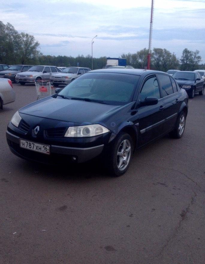 Подержанный Renault Megane, хорошее состояние, черный металлик, 2006 года выпуска, цена 275 000 руб. в республике Татарстане