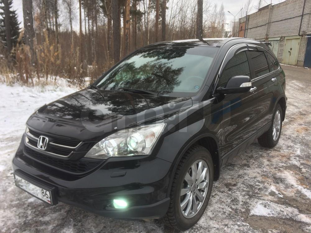 Подержанный Honda CR-V, хорошее состояние, черный , 2012 года выпуска, цена 1 250 000 руб. в ао. Ханты-Мансийском Автономном округе - Югре