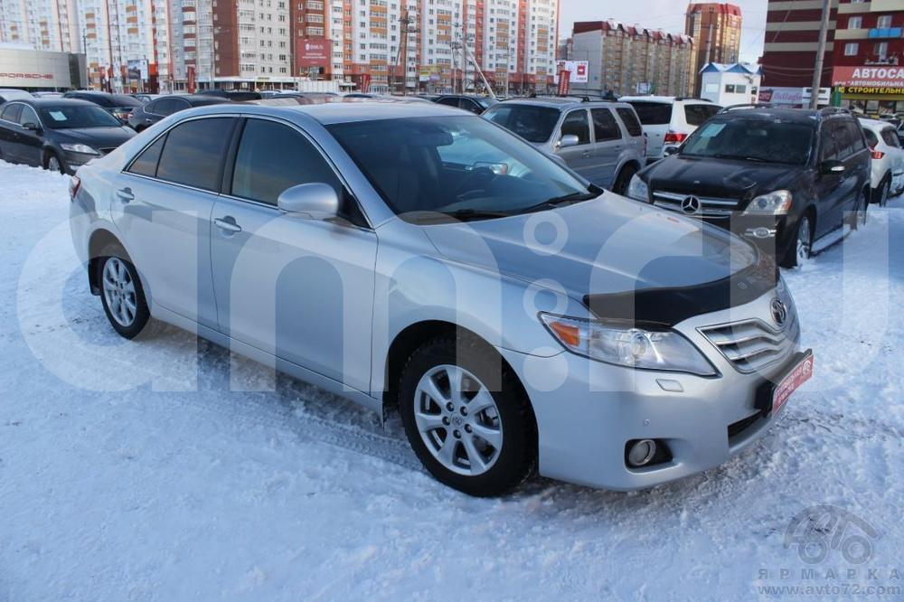 Toyota Camry с пробегом, серебряный металлик, отличное состояние, 2011 года выпуска, цена 735 000 руб. в автосалоне Автомобильная Ярмарка (Тюмень, ул. Пермякова, д. 85)