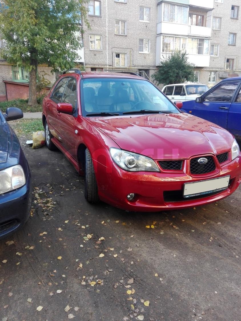 Подержанный Subaru Impreza, хорошее состояние, красный перламутр, 2007 года выпуска, цена 350 000 руб. в Смоленской области