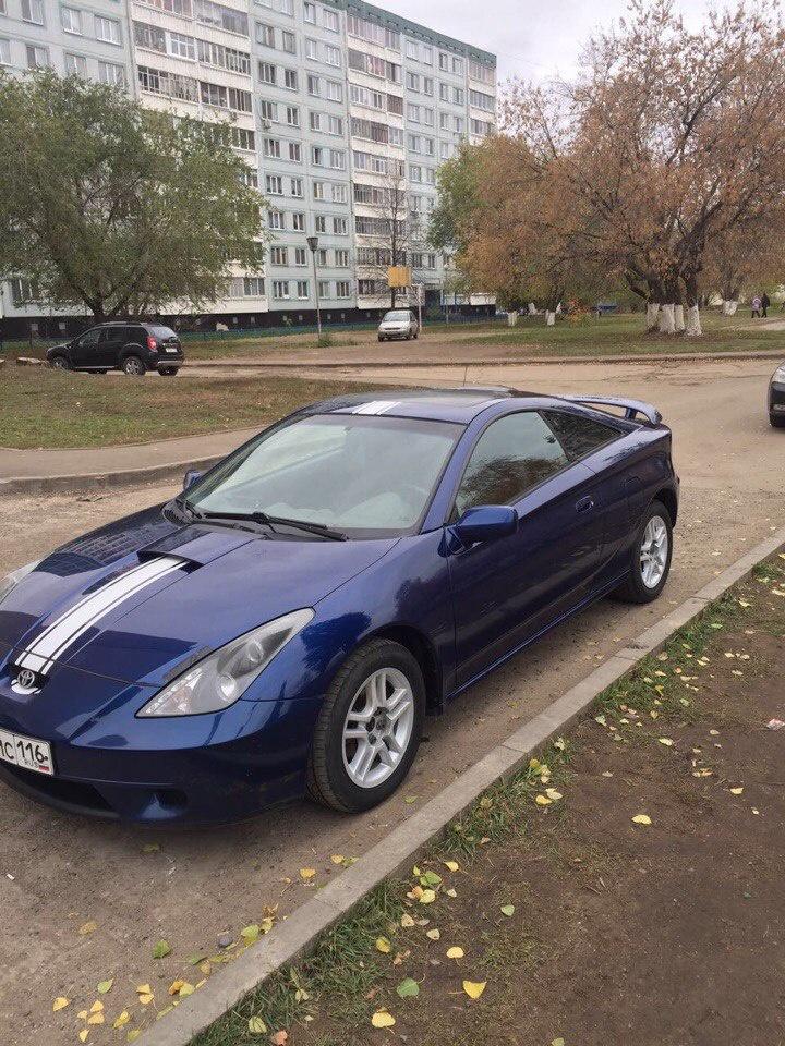 Подержанный Toyota Celica, хорошее состояние, синий , 2000 года выпуска, цена 320 000 руб. в республике Татарстане