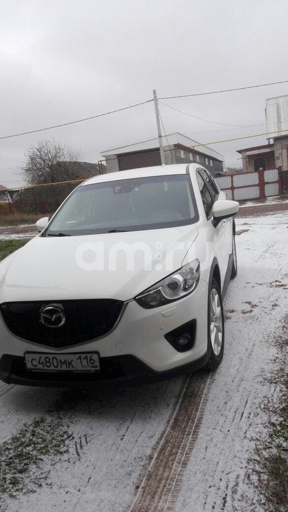 Подержанный Mazda CX-5, отличное состояние, белый перламутр, 2013 года выпуска, цена 1 350 000 руб. в республике Татарстане
