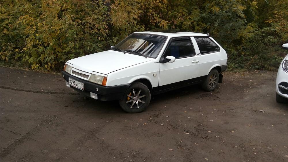 Подержанный ВАЗ (Lada) 2108, хорошее состояние, белый , 1997 года выпуска, цена 50 000 руб. в Челябинской области