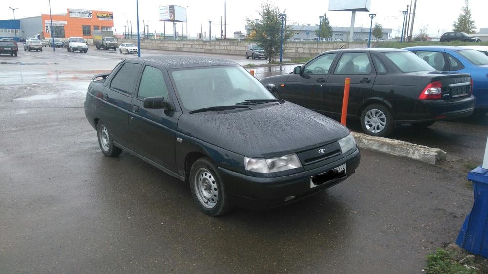 Подержанный ВАЗ (Lada) 2110, хорошее состояние, черный металлик, 2007 года выпуска, цена 105 000 руб. в республике Татарстане