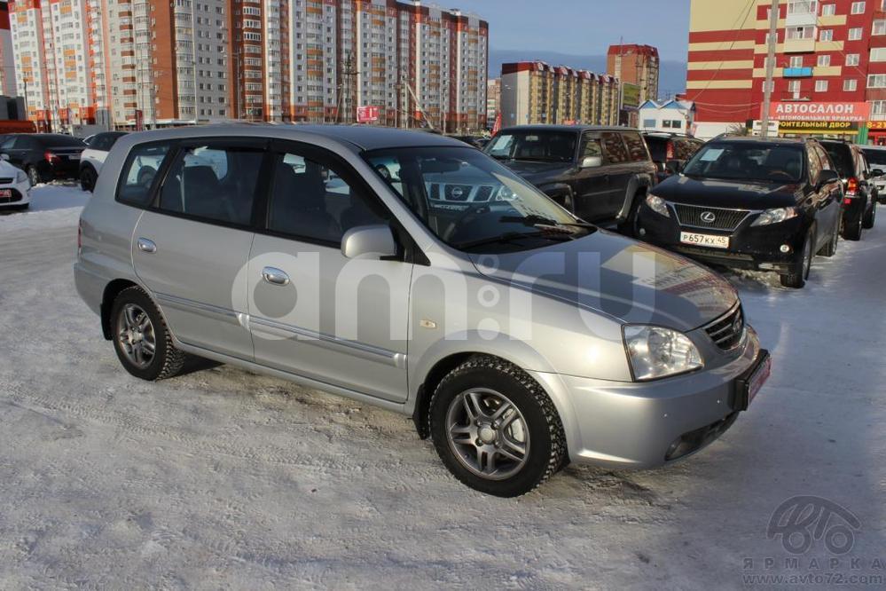 Kia Carens с пробегом, серебряный , отличное состояние, 2004 года выпуска, цена 370 000 руб. в автосалоне  ()