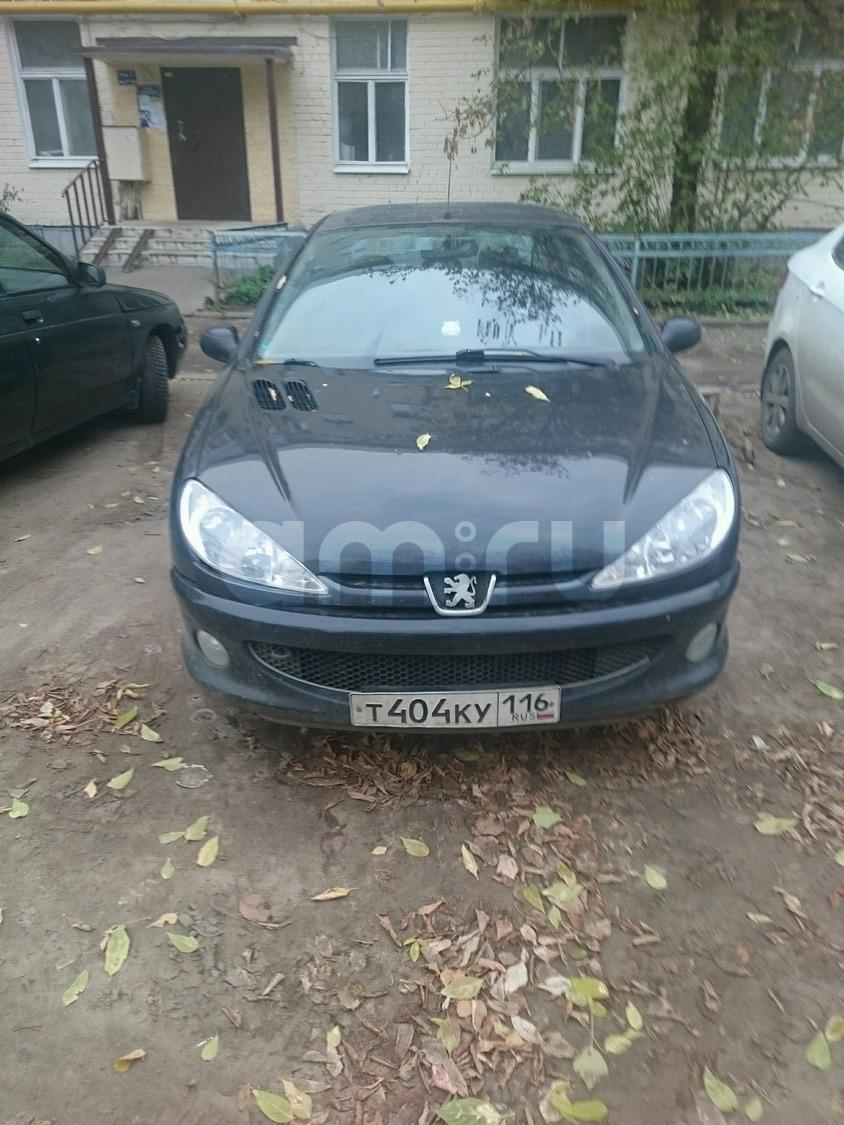 Подержанный Peugeot 206, хорошее состояние, черный , 2007 года выпуска, цена 185 000 руб. в республике Татарстане