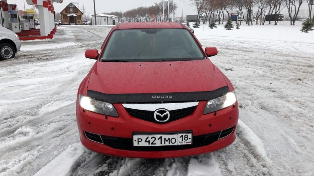 Подержанный Mazda 6, отличное состояние, красный перламутр, 2006 года выпуска, цена 299 000 руб. в республике Татарстане