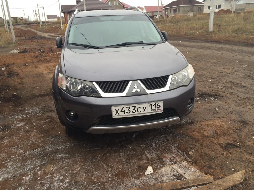 Подержанный Mitsubishi Outlander, отличное состояние, серый , 2008 года выпуска, цена 550 000 руб. в республике Татарстане