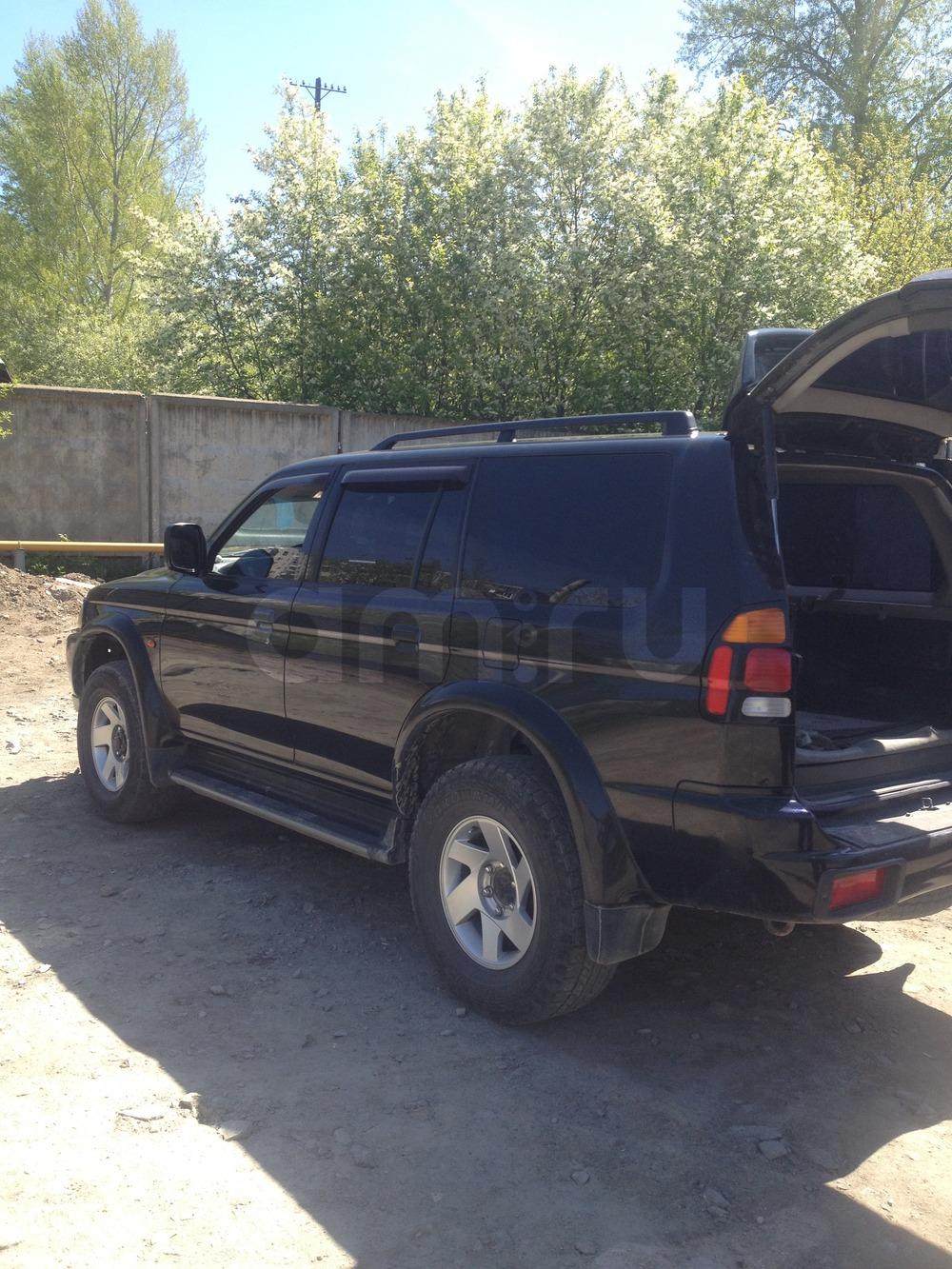 Подержанный Mitsubishi Pajero Sport, отличное состояние, черный металлик, 2000 года выпуска, цена 590 000 руб. в Челябинской области