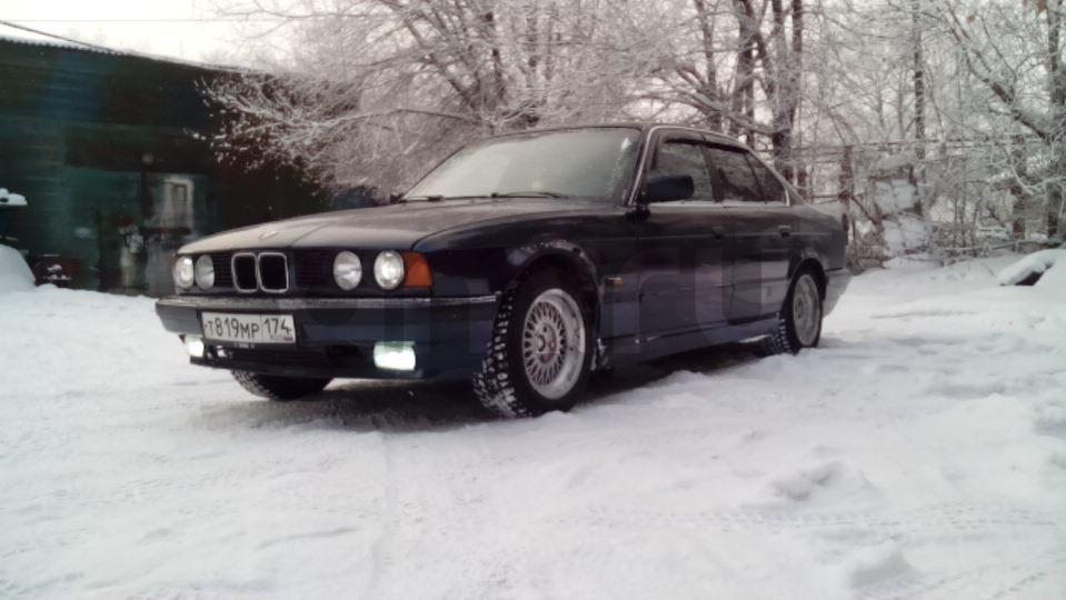 Подержанный BMW 5 серия, среднее состояние, синий металлик, 1994 года выпуска, цена 145 000 руб. в Челябинской области