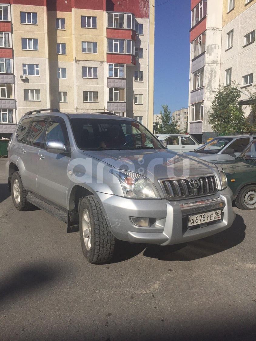 Подержанный Toyota Land Cruiser Prado, хорошее состояние, серый , 2008 года выпуска, цена 1 300 000 руб. в ао. Ханты-Мансийском Автономном округе - Югре