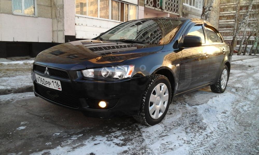 Подержанный Mitsubishi Lancer, хорошее состояние, черный металлик, 2009 года выпуска, цена 425 000 руб. в республике Татарстане