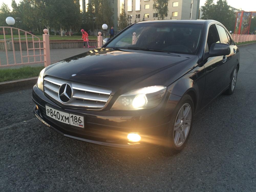 Подержанный Mercedes-Benz C-Класс, отличное состояние, мокрый асфальт металлик, 2008 года выпуска, цена 680 000 руб. в ао. Ханты-Мансийском Автономном округе - Югре