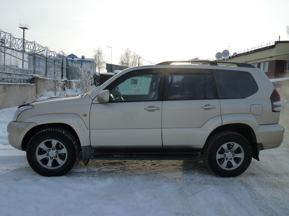 Подержанный Toyota Land Cruiser Prado, хорошее состояние, бежевый , 2008 года выпуска, цена 1 350 000 руб. в ао. Ханты-Мансийском Автономном округе - Югре