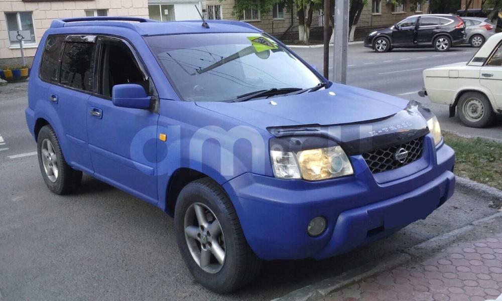 Подержанный Nissan X-Trail, среднее состояние, синий матовый, 2001 года выпуска, цена 430 000 руб. в ао. Ханты-Мансийском Автономном округе - Югре