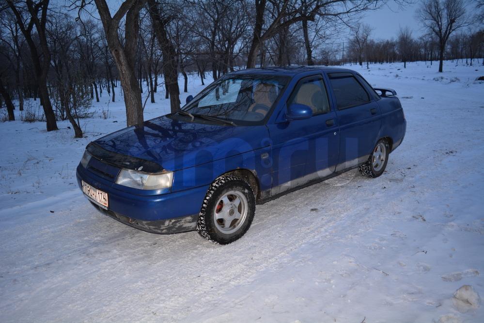 Подержанный ВАЗ (Lada) 2110, хорошее состояние, синий , 2002 года выпуска, цена 99 000 руб. в Челябинской области
