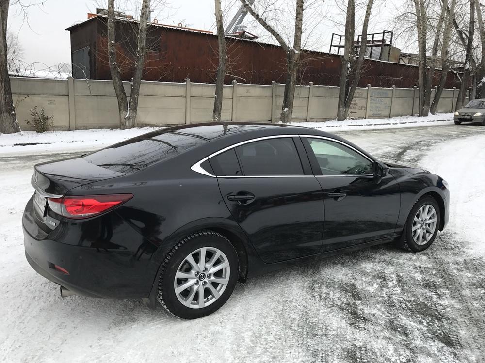 Подержанный Mazda 6, отличное состояние, черный , 2015 года выпуска, цена 1 150 000 руб. в Челябинской области