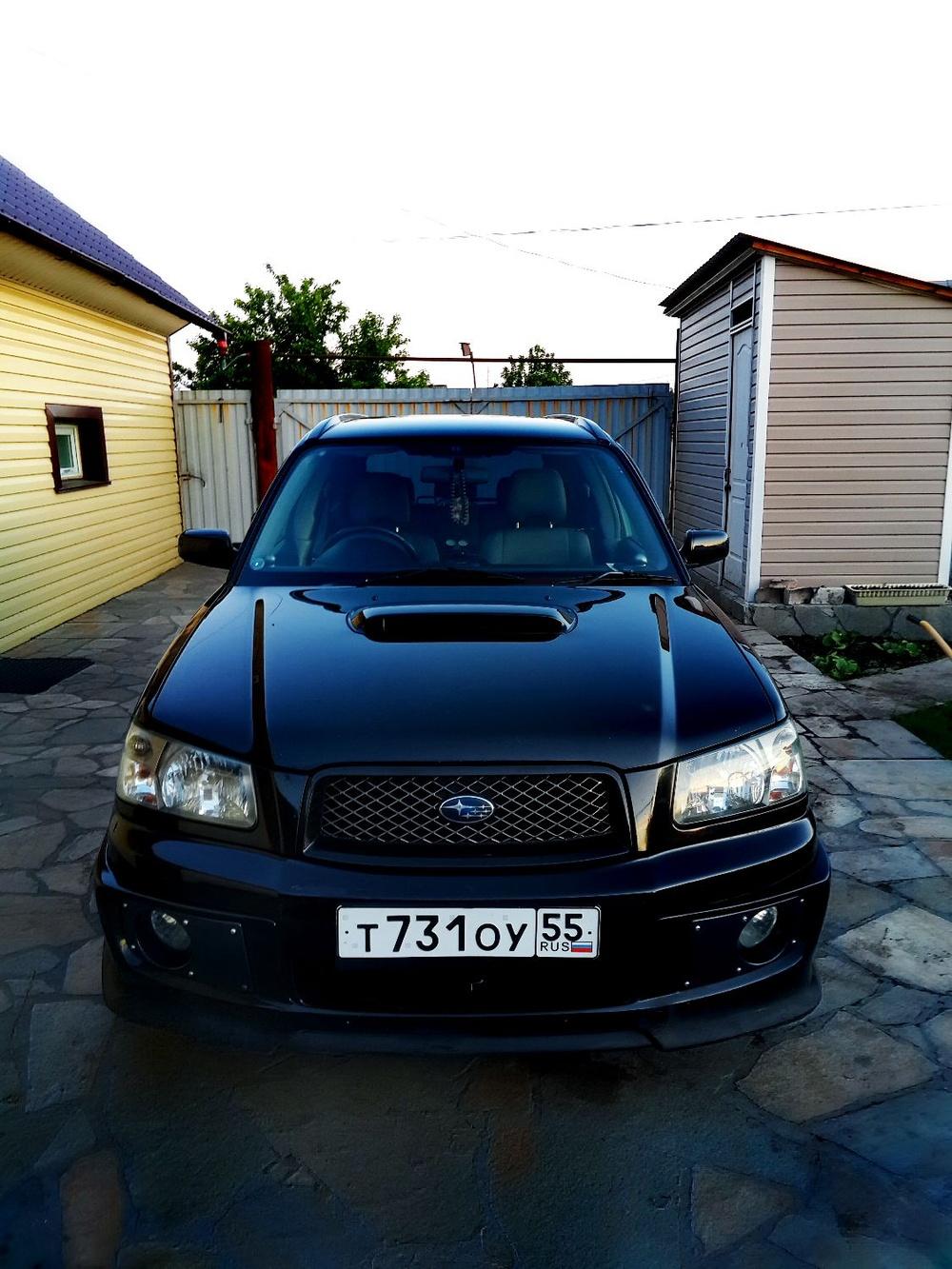 Подержанный Subaru Forester, отличное состояние, черный перламутр, 2003 года выпуска, цена 560 000 руб. в ао. Ханты-Мансийском Автономном округе - Югре