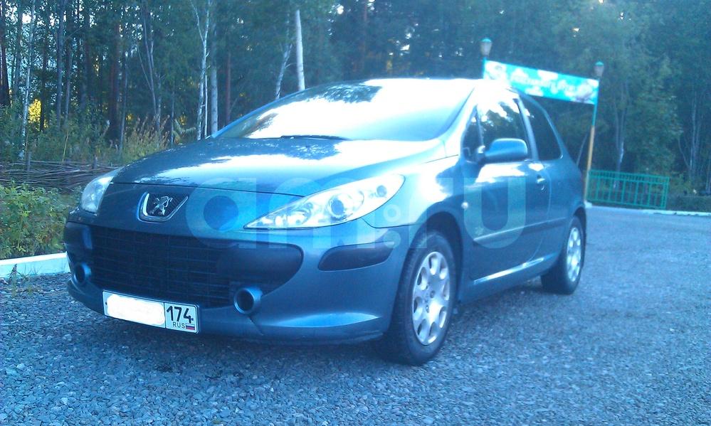 Подержанный Peugeot 307, хорошее состояние, мокрый асфальт металлик, 2007 года выпуска, цена 240 000 руб. в Челябинской области