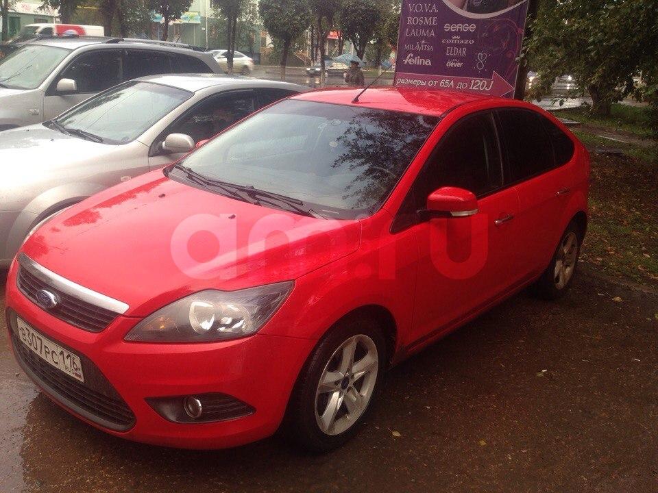 Подержанный Ford Focus, хорошее состояние, красный , 2010 года выпуска, цена 380 000 руб. в республике Татарстане