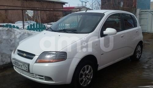 Подержанный Chevrolet Aveo, хорошее состояние, белый , 2005 года выпуска, цена 197 000 руб. в Челябинской области