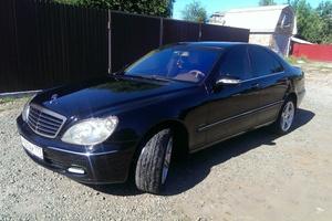 Подержанный автомобиль Mercedes-Benz S-Класс, хорошее состояние, 2002 года выпуска, цена 510 000 руб., Ступино