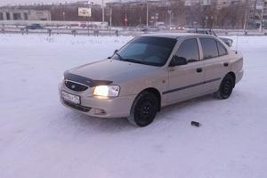 Автомобиль Hyundai Accent, битый состояние, 2006 года выпуска, цена 130 000 руб., Магнитогорск