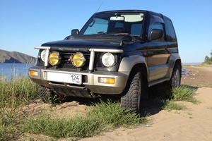 Автомобиль Mitsubishi Pajero Junior, хорошее состояние, 1995 года выпуска, цена 210 000 руб., Минусинск