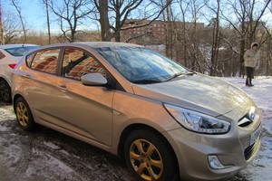 Подержанный автомобиль Hyundai Solaris, хорошее состояние, 2013 года выпуска, цена 490 000 руб., Климовск