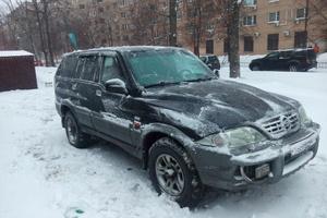 Автомобиль SsangYong Musso, среднее состояние, 2002 года выпуска, цена 180 000 руб., Москва