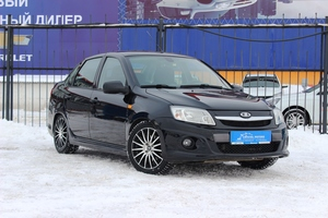 Подержанный автомобиль ВАЗ (Lada) Granta, отличное состояние, 2014 года выпуска, цена 409 000 руб., Челябинск