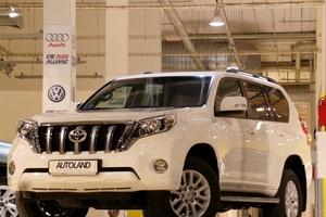 Подержанный автомобиль Toyota Land Cruiser Prado, отличное состояние, 2016 года выпуска, цена 3 150 000 руб., Московская область