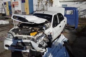 Автомобиль Daewoo Sens, битый состояние, 2003 года выпуска, цена 60 000 руб., Симферополь