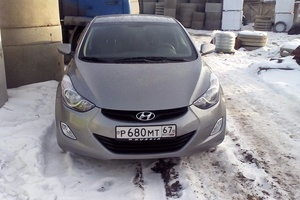 Подержанный автомобиль Hyundai Elantra, отличное состояние, 2012 года выпуска, цена 580 000 руб., Сафоново
